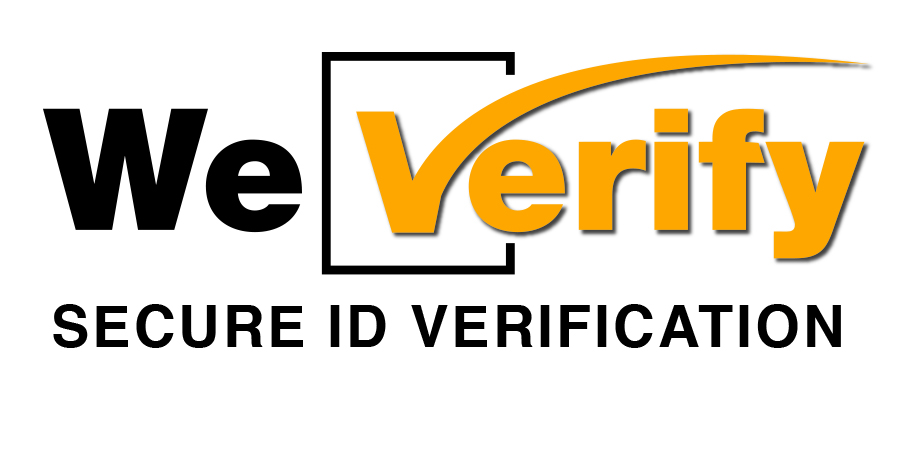 We Verify Secure ID Verification Logo